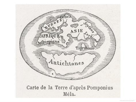 As Known to Pomponius Mela Roman Geographer Giclee Print