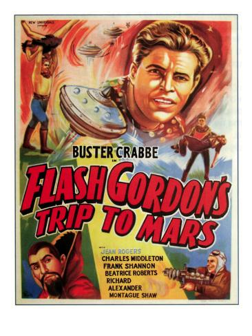 Flash Gordon's Trip to Mars, Top: Buster Crabbe, Bottom Left: Charles Middleton, 1938 Photo