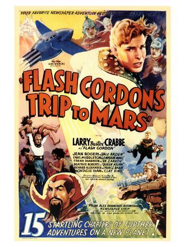Flash Gordon's Trip to Mars Art Print