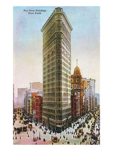 Flat Iron Building, New York City Art Print