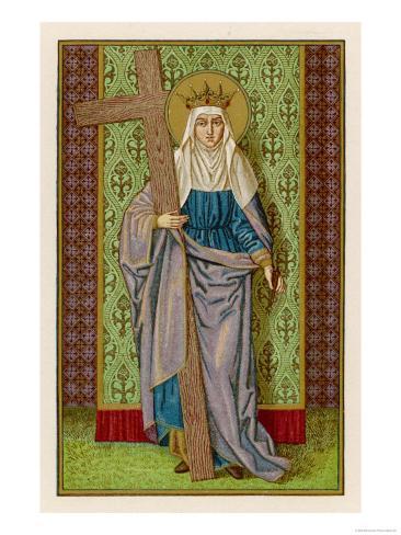 Flavia Julia Helena with the True Cross Lámina giclée