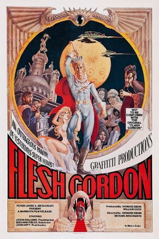 Flesh Gordon Art Print