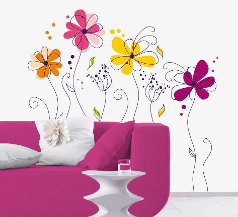 Fleurs Wall Decal
