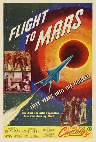 Flight to Mars Masterprint