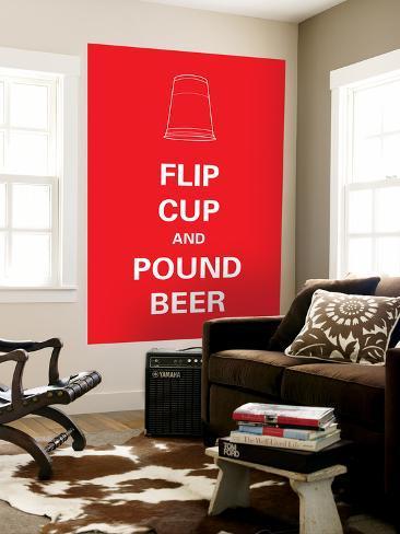 Flip Cup Laminated Oversized Art