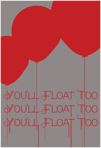 Floating Balloons Poster