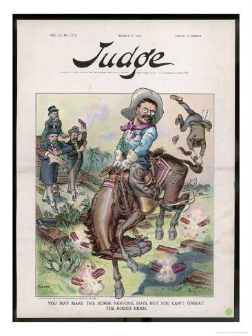Theodore Roosevelt 26th American President Depicted as a Rough Rider Giclee Print