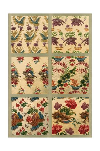 Floral and Dragon Embellishment Corner Art Print