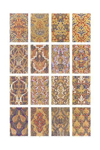 Floral Arabesque Patterns Art Print