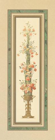 Floral Pedestals III Art Print