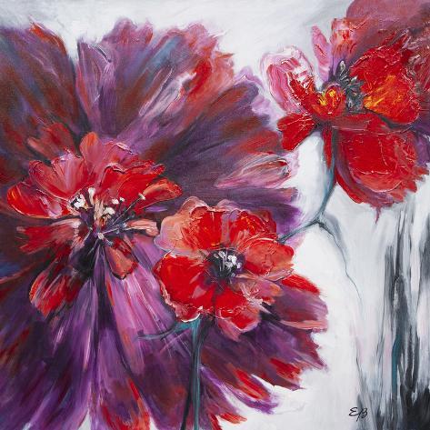 Floral Rendering in Purple Art Print