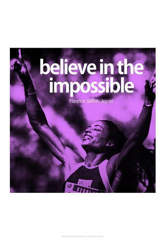 Florence Griffith-Joyner Impossible Quote iNspire Poster Poster