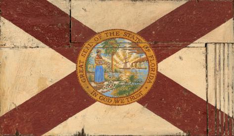 Florida Flag Wood Sign Wood Sign