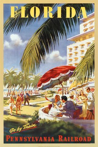 Florida, Go By Train Art Print