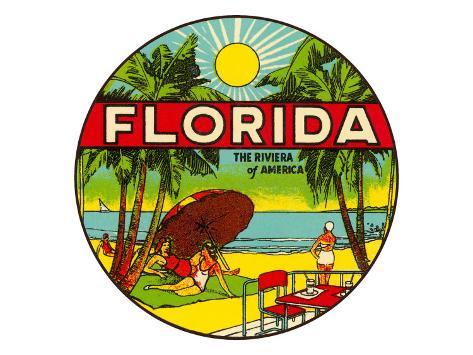 Florida, Riviera of America Art Print