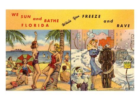 Florida Sun Versus City in Winter Art Print