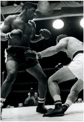 Floyd Patterson Knockout Archival Sports Photo Poster Poster
