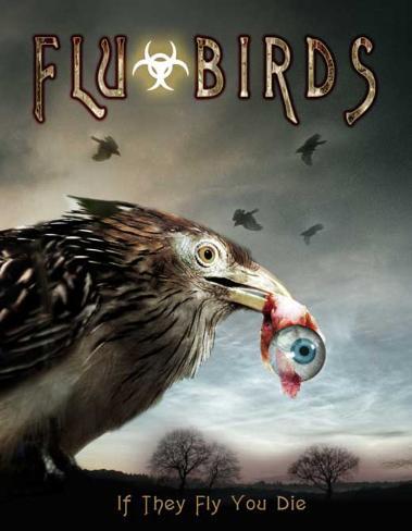 Flu Bird Horror Poster