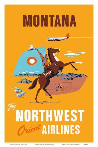 Fly Northwest Orient Airlines: Montana, c.1950s Art Print