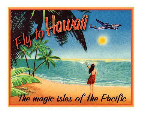 Fly to Hawaii Giclee Print