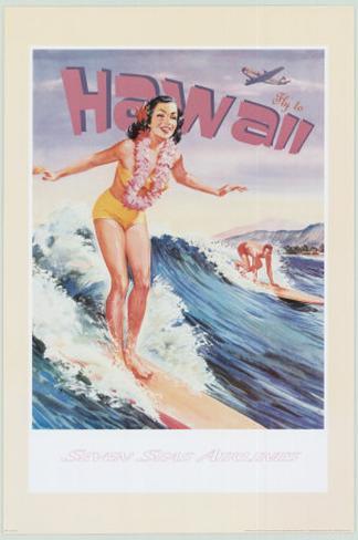 Fly to Hawaii Art Print