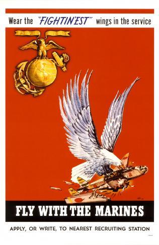 Fly With The Marines Masterprint