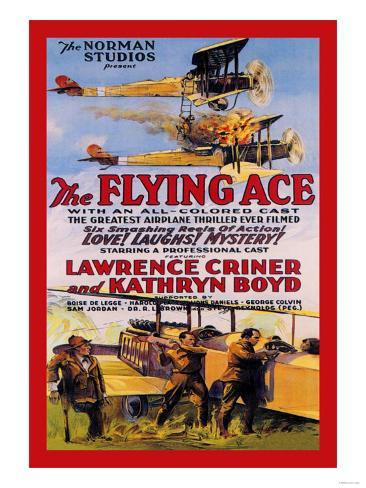 Flying Ace Movie Poster Konstprint