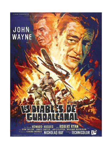 Flying Leathernecks, (aka Les Diables De Guadacanal), Robert Ryan, John Wayne, 1951 Giclee Print