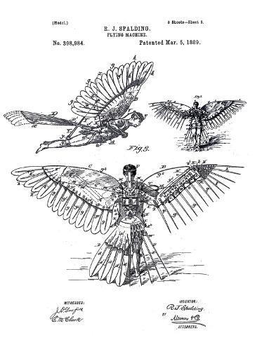 Flying Machine Impressão giclée