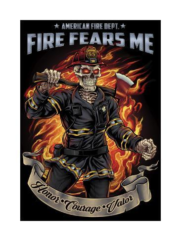 firefighter template giclee print by flyland designs by allposters ie