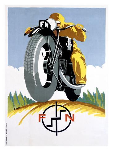 FN Motorcycle, c.1925 Giclee Print