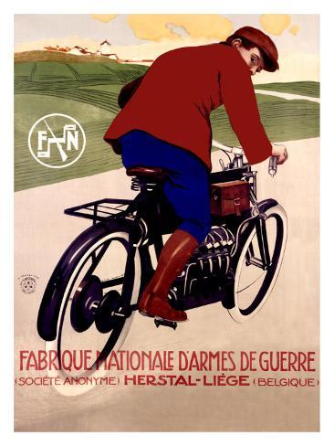 FN Motorcycle Giclee Print