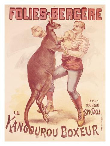 Folies Bergere, Boxing Kangaroo Giclee Print