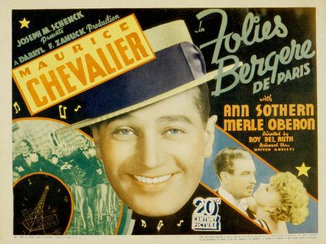Folies Bergere De Paris, Maurice Chevalier, Ann Sothern, 1935 Photo