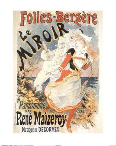 Folies Bergere Le Miroir (Advertisement) Mini Poster
