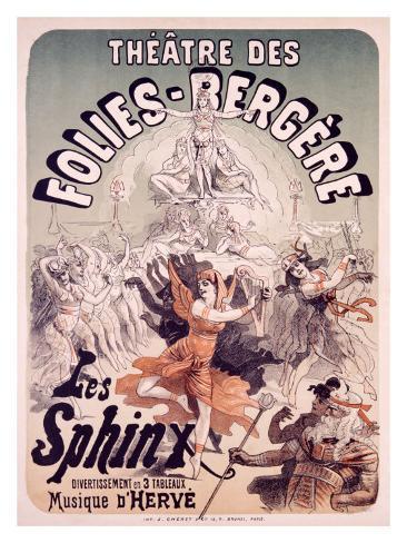 Folies Bergere, Les Sphinx Giclee Print