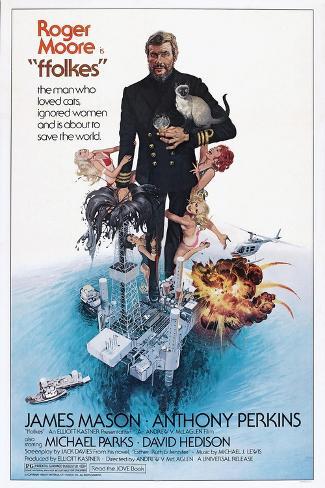 Folkes, (aka North Sea Hijack), Roger Moore, 1979 Art Print