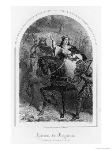 Eleanor of Aquitaine (Or of Guyenne) Rides East with Her Husband Louis VII Giclee Print