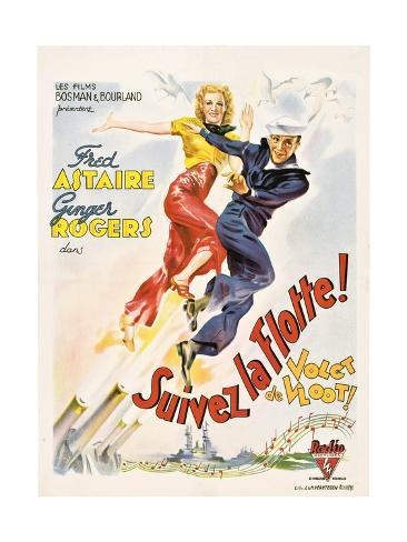 Follow The Fleet, (aka Suivez La Flotte!), Ginger Rogers, Fred Astaire, 1936 Giclee Print