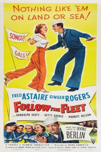 Follow The Fleet Art Print