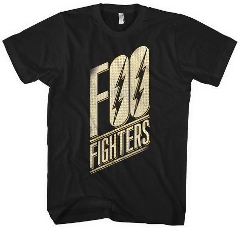 Foo Fighters- Slanted Black Logo T-paita