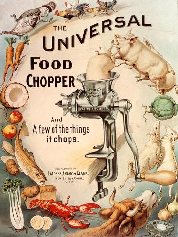 Food Choppers Mincers the Universal Cooking Appliances Gadgets, USA, 1890 Giclee Print