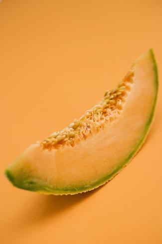 A Slice of Cantaloupe Melon Photographic Print