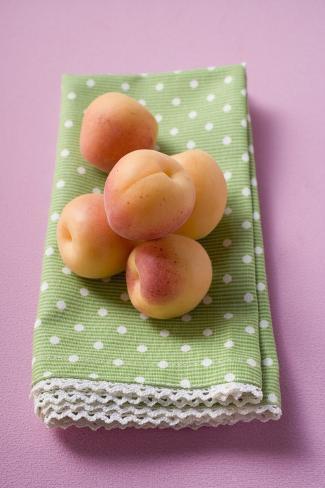 Apricots on Tea Towel Photographic Print