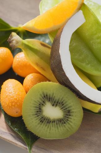 Exotic Fruit, Citrus Fruit and Coconut Photographic Print