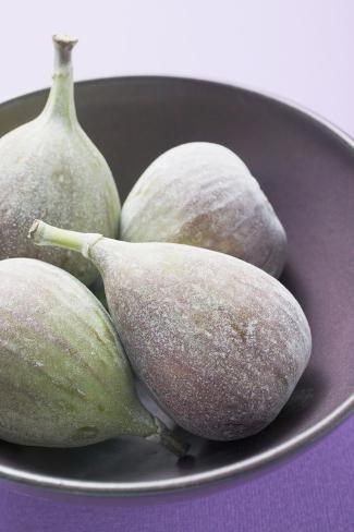 Four Fresh Figs in Bowl (Detail) Photographic Print