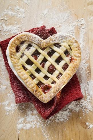Freshly-Baked Cherry Pie Photographic Print