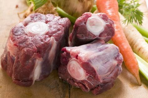 Oxtail and Fresh Soup Vegetables Photographic Print
