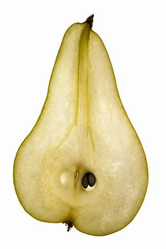 Pear (Lengthwise Slice), Backlit Photographic Print
