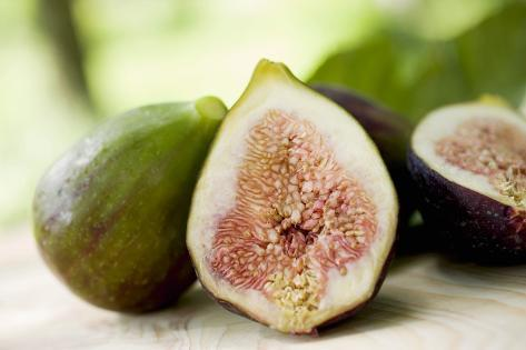 Several Half and Whole Figs Photographic Print